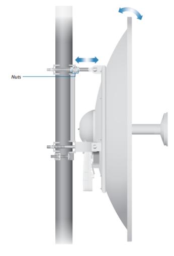 AF-5G34-S45 - 5 GHz, 34 dBi Slant 45 Antenna for airFiber5X