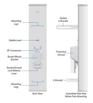 2G15 -120 градусова AirMax Секторна Антена, 15dBi, 2.4GHz