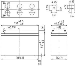 Panasonic LC-R127R2P – 12V 7.2Ah
