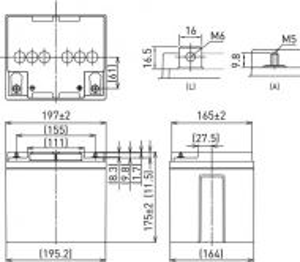 Panasonic LC-P1238P – 12V 38Ah