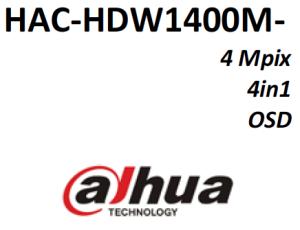 Dahua HAC-HDW1400M-0360B - HDCVI 4MP 3.6mm