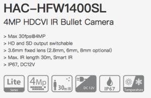 Dahua HAC-HFW1400SL-0360B - HDCVI 4MP 3.6мм