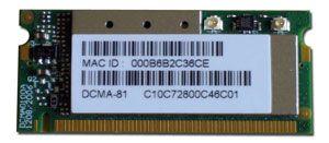 DCMA-81 miniPCI 802.11 a/b/g, 19dBm Wireless Card