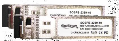 40km-10G-SFP+ Single Mode-DDM Tranceivers - SET