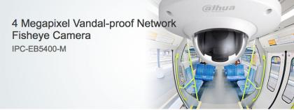 IPC-EB5400 - Вандалоустойчива Панорамна IP Камера 180º 4Mpix