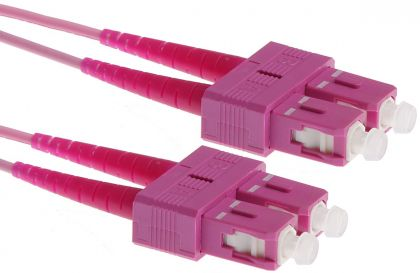 SCupc-SCupc, Multimode 50/125 OM4, duplex, 3m - Fiber Optic Patch Cord