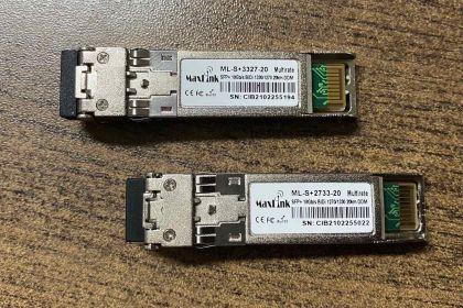 20km SFP+ Set of Optical modules WDM, SM, 1x LC connector, DDM, Cisco compatible - ML-S+3327-20