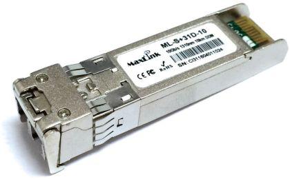 10км MaxLink 10G SFP+ optical module, SM, 1310nm, 2x LC connector, DDM