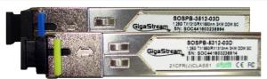 SFP GigaStream BIDI-LX-A(Tx1310) and BIDI-LX-B(Tx1550) 1.25 G SC - 3km