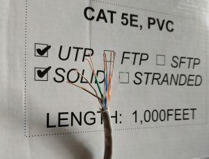 UTP Cable cat 5E 4P 24AWG PVC