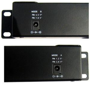 "Gigabit POE panel 16 ports, 1U for rack 19"", shielded"