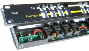 """POE-PAN12 - POE Панел 12 порта, 1U за РАК 19"""""""