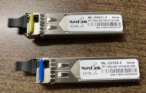 3км Комплект 1.25G SFP оптични модули, WDM(BiDi), SM, 1x LC connector, DDM, Cisco и MikroTik съвместими